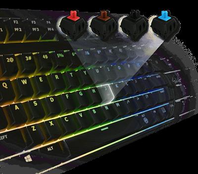 Vollständig mechanische RGB-Tastenschalter