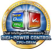 Dual Intelligent Processors 3-Technologie inklusive dem neuen DIGI+ Power Control