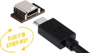 USB Typ-C für komfortable Anschlussmöglichkeiten
